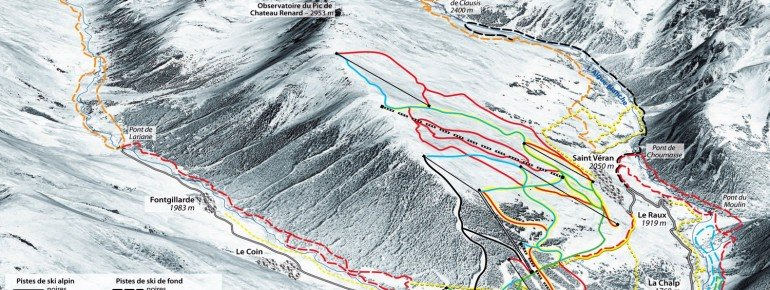 Trail Map Saint Veran