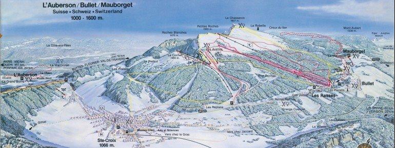 Trail Map Sainte Croix - Les Rasses