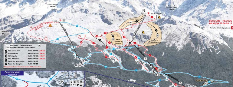 Trail Map Sainte Foy Tarentaise