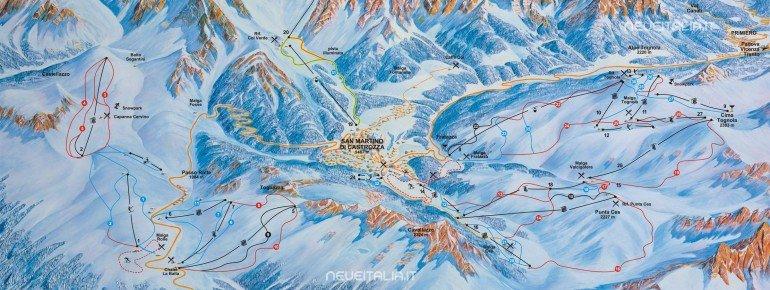 Trail Map San Martino di Castrozza - Passo Rolle