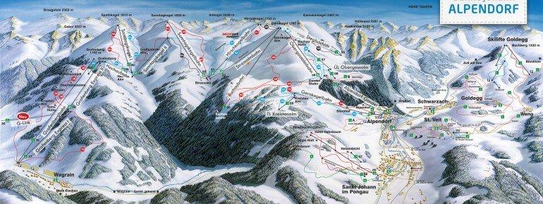 Trail Map Sankt Johann Alpendorf