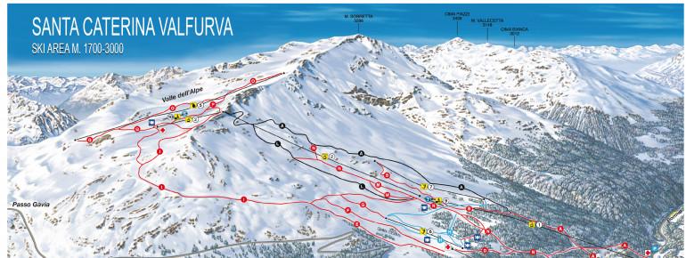 Trail Map Santa Caterina Valfurva