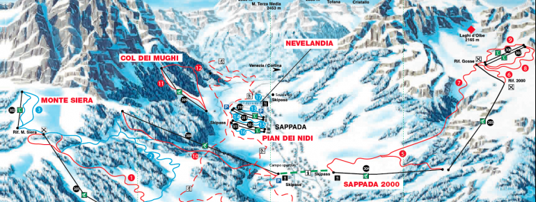 Trail Map Sappada