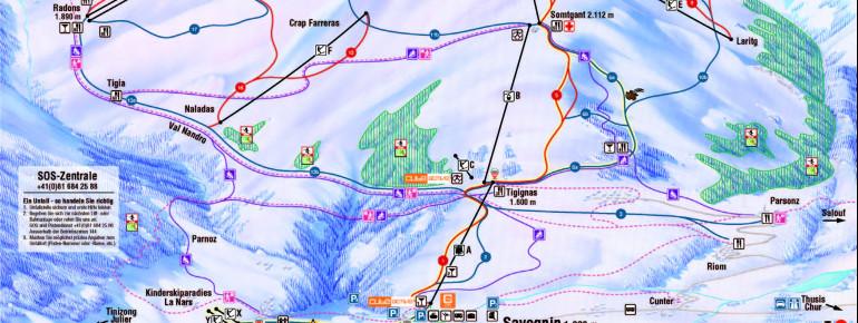 Trail Map Savognin