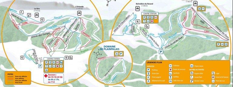 Trail Map Savoie Grand Revard