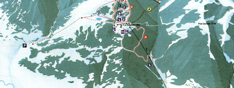 Trail Map Scanno Monte Rotondo Ski Resort