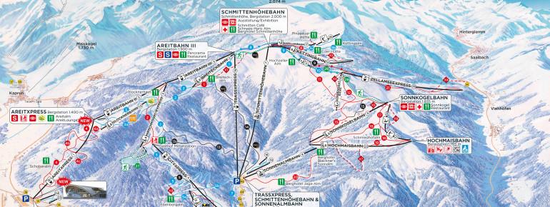 Trail Map Schmitten - Zell am See