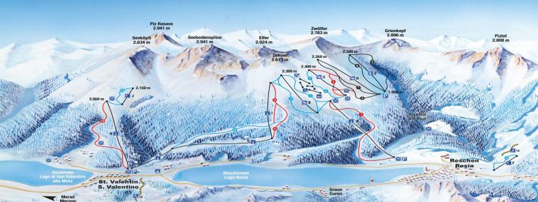 Trail Map Schöneben - Haideralm