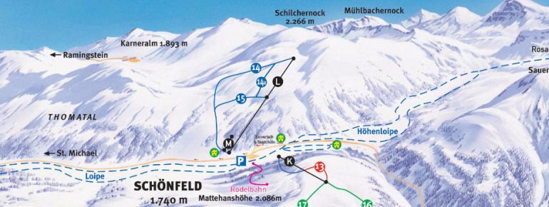 Trail Map Schönfeld Thomatal