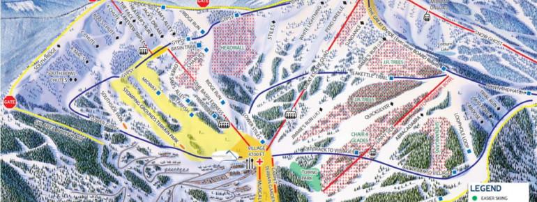 Trail Map Schweitzer Mountain Resort