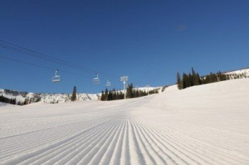 Enjoy perfectly groomed slopes.