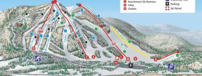 Trail Map Searchmont Resort