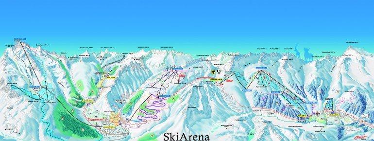 Trail Map Sedrun Oberalp