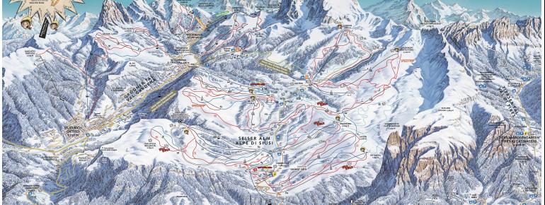 Trail Map Seiser Alm