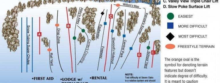 Trail Map Seven Oaks Recreation Area