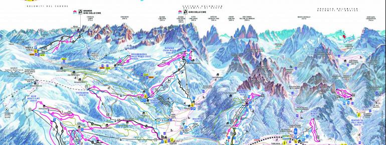 Trail Map 3 Zinnen Dolomites