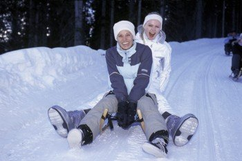 Tobogganing is a blast for everyone.
