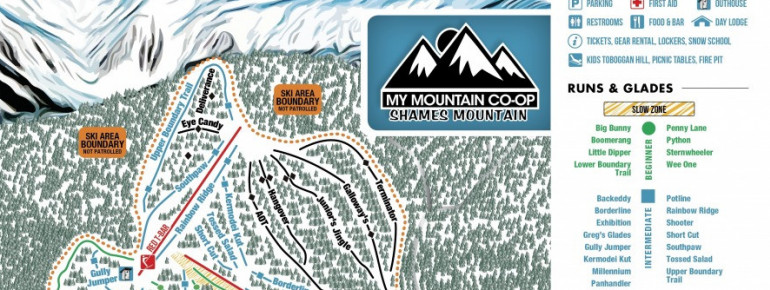 Trail Map Shames Mountain