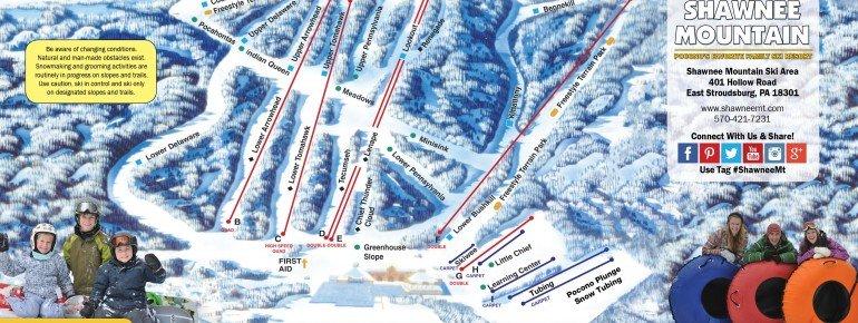 Trail Map Shawnee Mountain