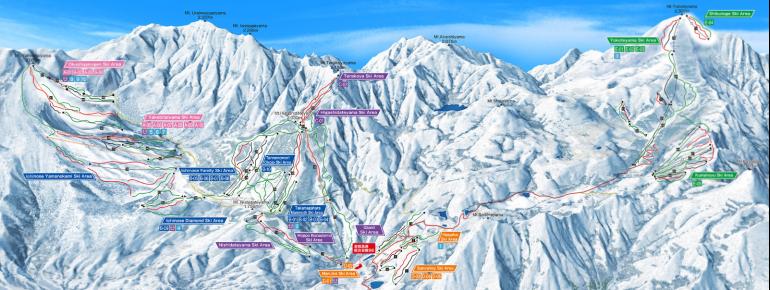 Trail Map Shigakogen Mountain Resort
