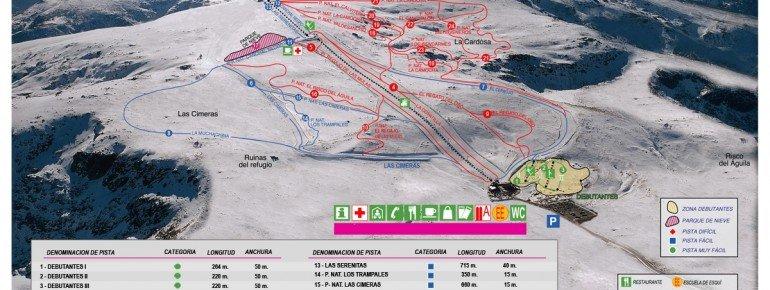 Trail Map Sierra de Bejar La Covatilla