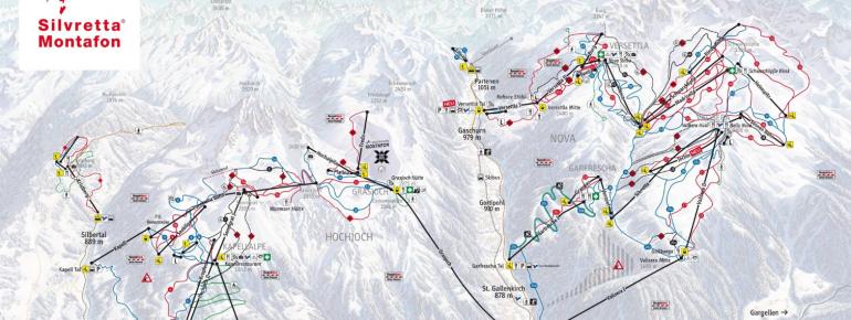 Trail Map Silvretta Montafon