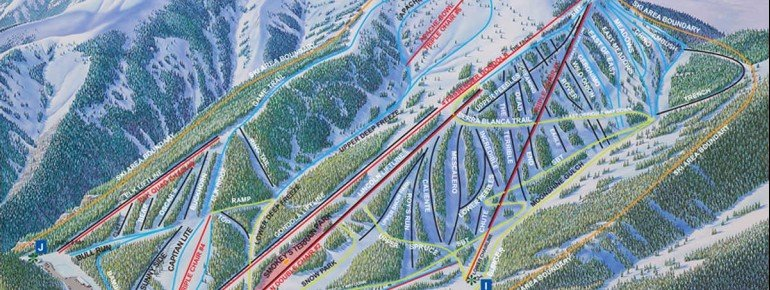 Trail Map Ski Apache