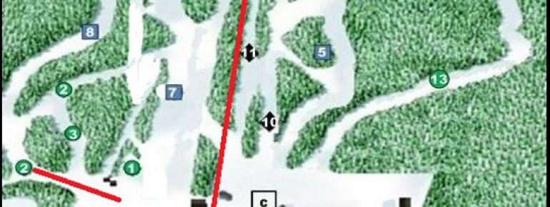 Trail Map Ski Ben Eoin