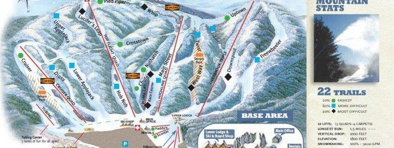 Trail Map Ski Butternut