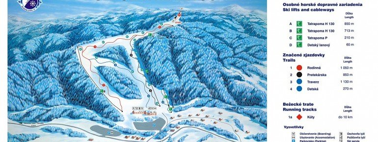 Trail Map SKI Centre Levoca LD
