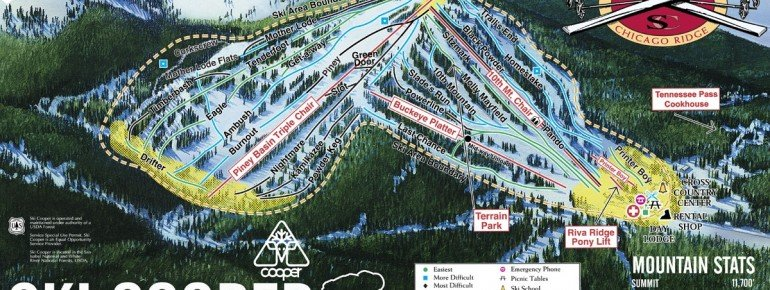Trail Map Ski Cooper