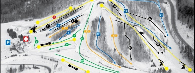 Trail Map Ski Lakeridge