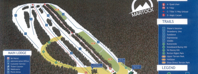 Trail Map Ski Martock