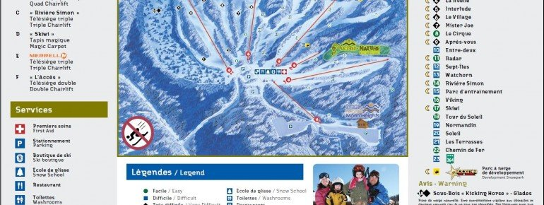 Trail Map Ski Morin Heights