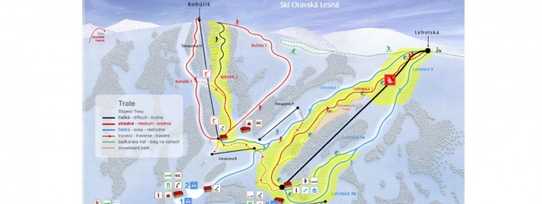 Trail Map Ski Oravska Lesna