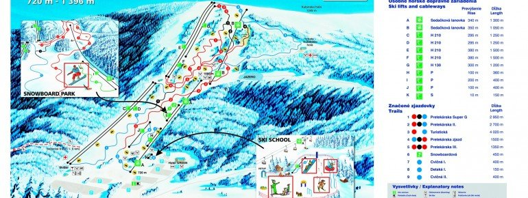 Trail Map SKI PARK Kubinska hola