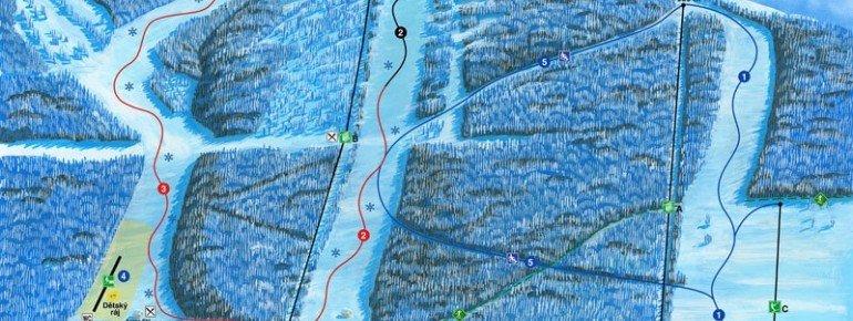 Trail Map Ski Sneznik Dolni Morava