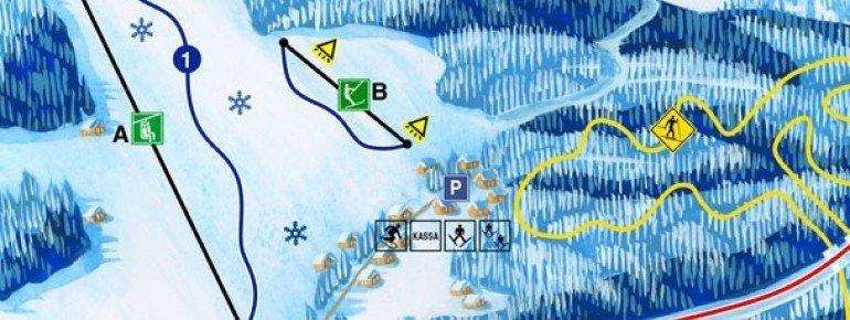 Trail Map Ski Snowpark Harusuv Kopec