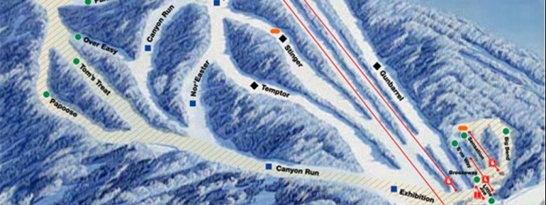 Trail Map Ski Sundown