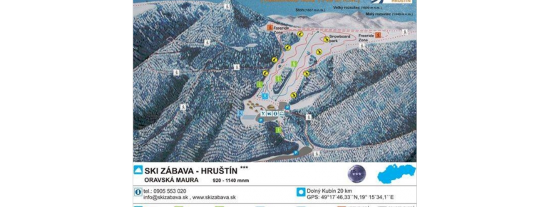 Trail Map Ski Zabava Hrustin