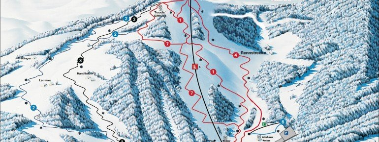 Trail Map Skiarena Lammeralm