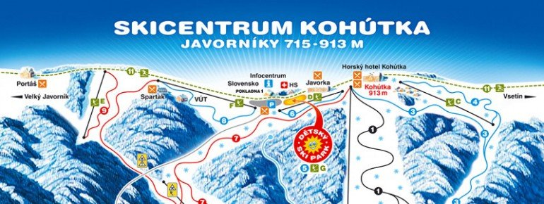 Trail Map Skicentrum Kohutka
