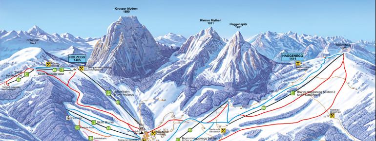 Trail Map Skilift Brunni