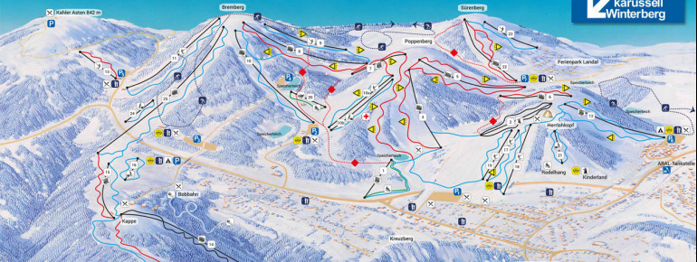 Trail Map Skiliftkarussell Winterberg