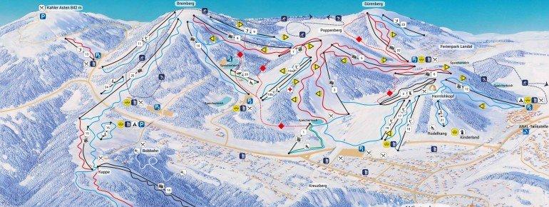 Trail Map Skiliftkarussell Winterberg