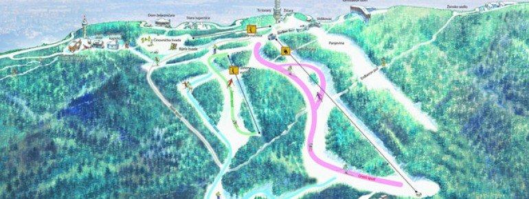 Trail Map Sljeme - Zagreb