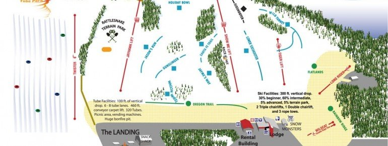 Trail Map Snow Creek Ski Area