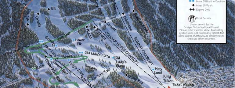Trail Map Snow King Resort