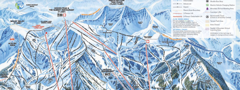 Trail Map Snowbird