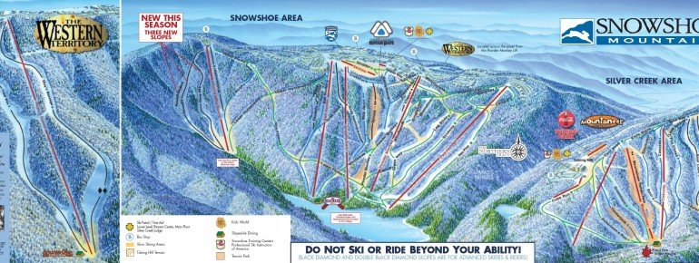 Trail Map Snowshoe Mountain